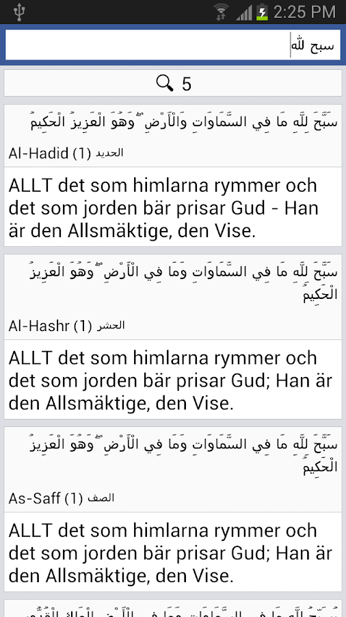 Quran - Swedish- screenshot