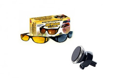 Set ochelari pentru condus, HD VISION + Suport magnetic telefon, 360 grade