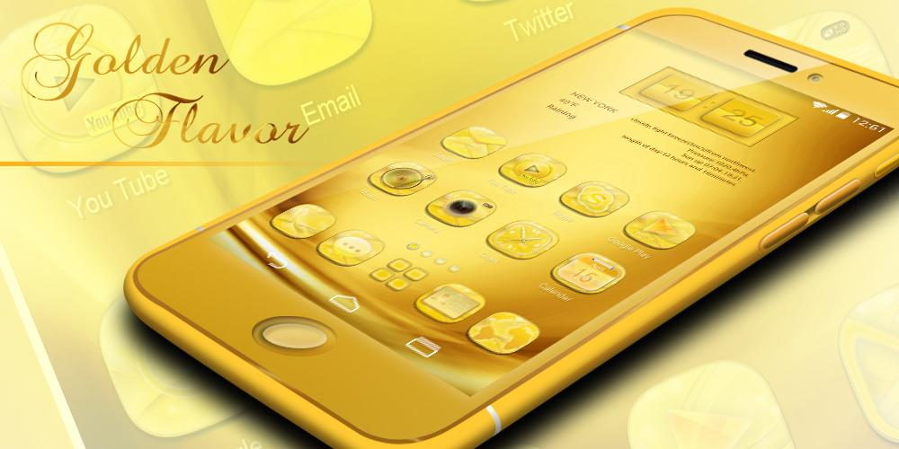 Golden GO Launcher Theme - Android Apps on Google PlayGolden GO Launcher Theme- screenshot