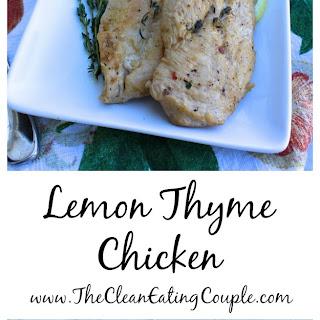 Healthy Lemon Thyme Chicken