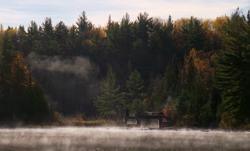 Photo: The morning mist was still lifting ...