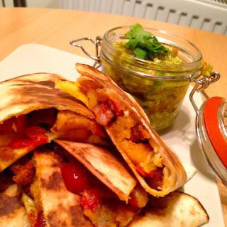 Chorizo Potato & Red Jalapeño Quesadillas