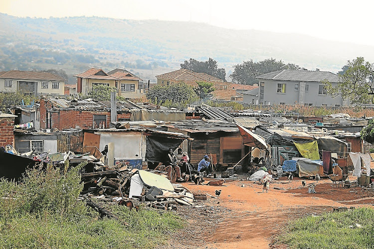 An informal settlement in Honeydew, northwest of Johannesburg. Picture: BAFANA MAHLANGU/ SOWETAN