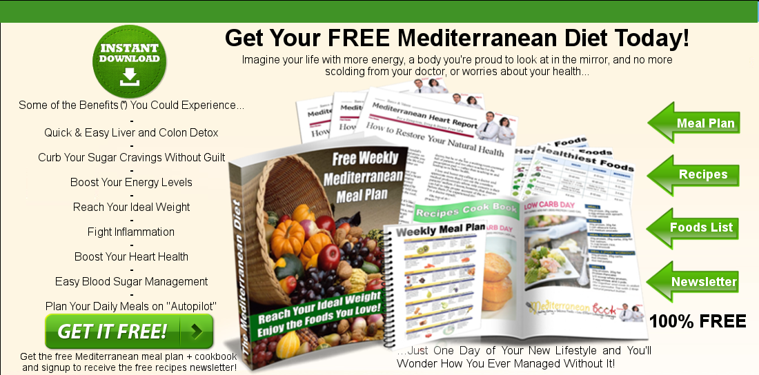 Download Free Cookbook With Weekly Mediterranean Diet Meal Plan