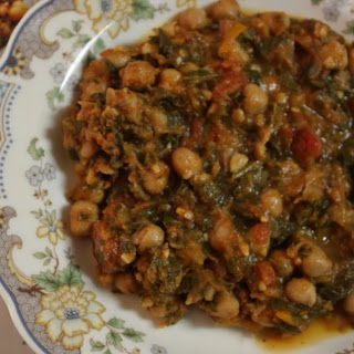 SANDY'S CHICKPEA AND SPINACH STEW (vegan).