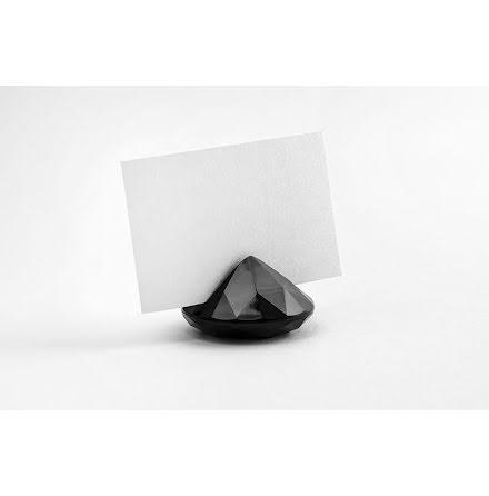 Placeringskortshållare Diamant - svart