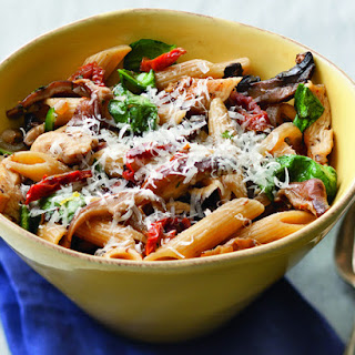 Whole Grain Penne with Chicken, Mushrooms and Spinach Recipe