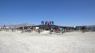 Photo: Centre Camp where you can buy coffee and tea and can relax and escape the heat.
