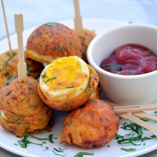 Egg Pakoda / Egg Fritters made in Appe pan
