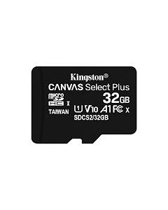 Kingston 32GB Canvas Select Plus MicroSDHC 100 MB/s UHS-I U1 V10 Class 10 Memory Card with SD Adapter