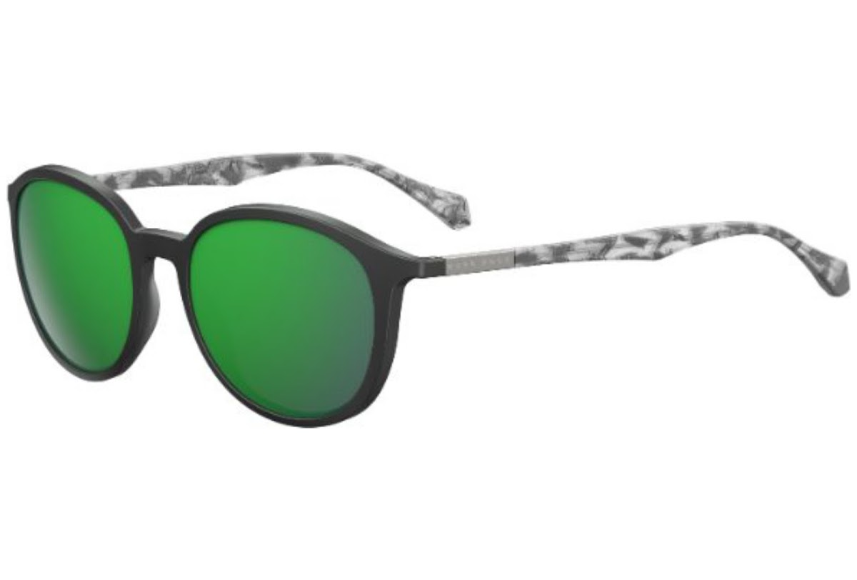 7533f6428696 Details about NEW Hugo Boss B0822 S YV4Z9 Black Grey   Green Sunglasses