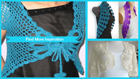 Beauty Crochet Shrug Patterns - náhled