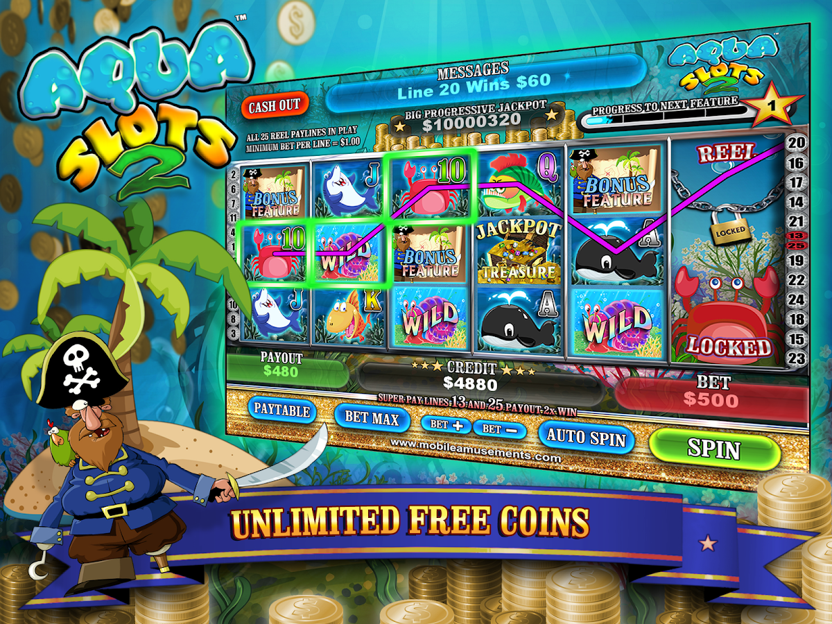 Aqua Slots 2 Treasure Island- screenshot