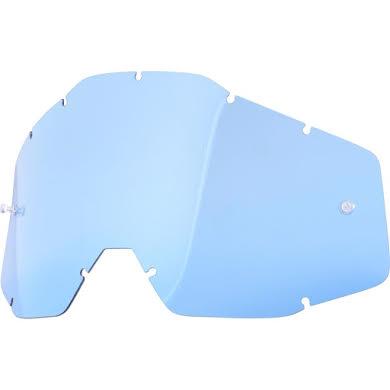 100% Racecraft/Accuri/Strata Replacement Lens, Blue Anti-Fog Lens