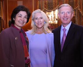 Photo: Justice Fernande Duffly (SJC), Amy Nechtem (Juvenile Court), and BBA President Paul Dacier.