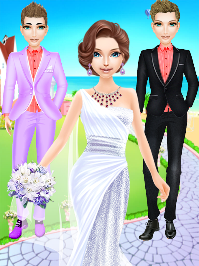 Royal princess wedding makeup dress up games android for Dress up games wedding