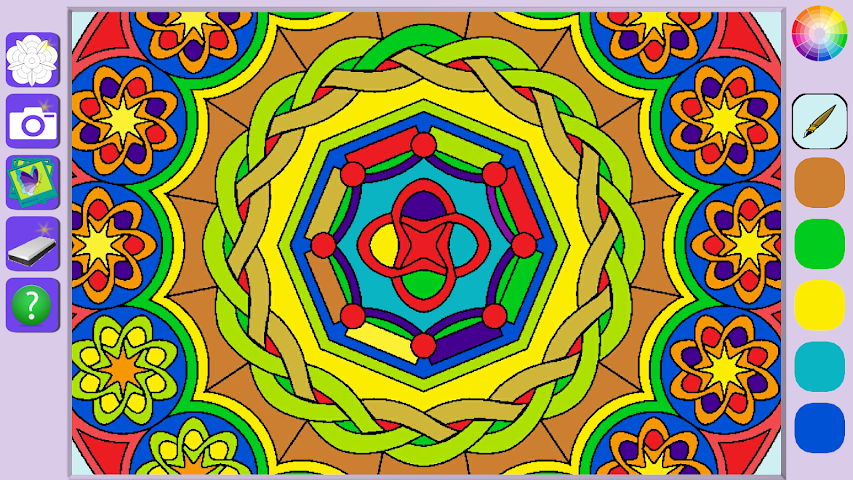 android De Stress Mandala Painting Screenshot 6