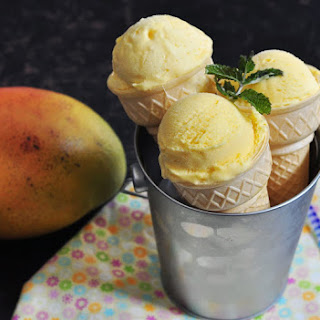 Mango Ice cream with touch of cardamom