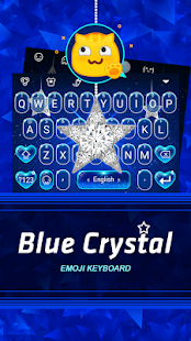 Blue Crystal Theme&Emoji Keyboard - náhled