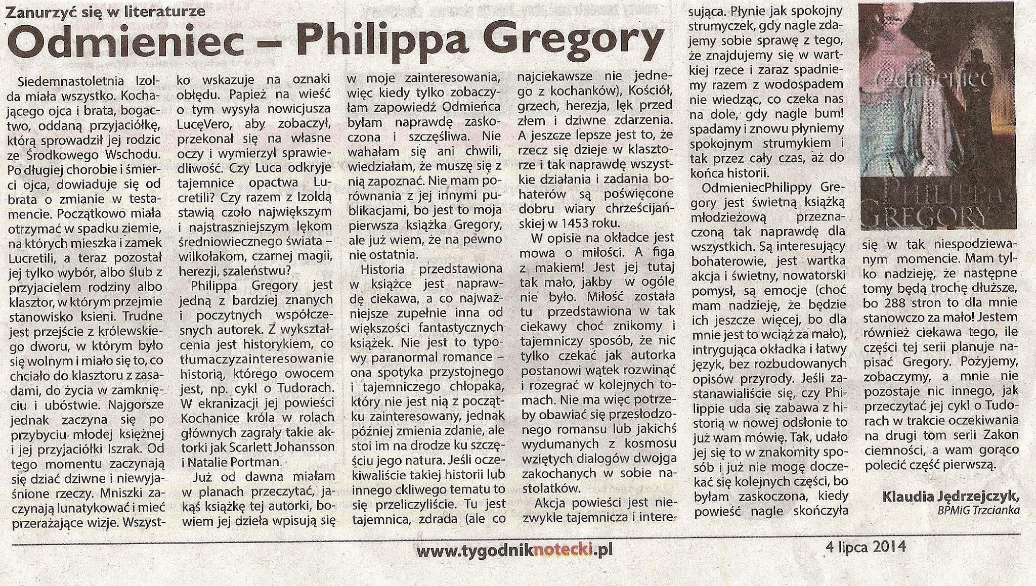 Photo: http://szeptksiazek.blogspot.com/2013/04/przedpremierowo-odmieniec-philippa.html
