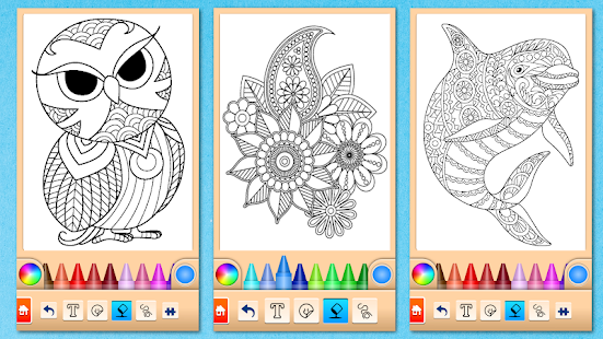 Páginas para colorear Mandala Screenshot