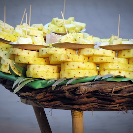 by Shalabh Saxena - Food & Drink Fruits & Vegetables ( close up, tasteful, pineapple, street, yellow, food )