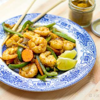 15 Minute Curry Coconut Prawn Stir Fry.