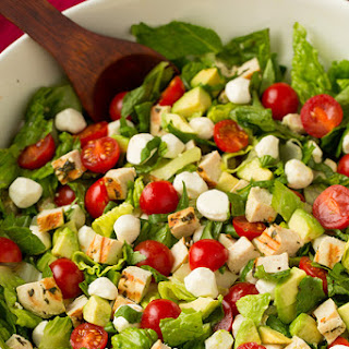 Caprese Chicken and Avocado Chopped Salad