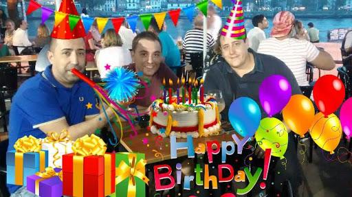 誕生日パーティーの写真のステッカー