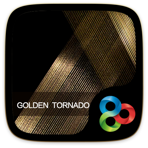Golden Tornado Go Launcher Theme