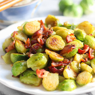 Bacon with Russell Sprouts.