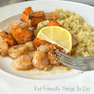 Shrimp & Sweet Potato Skewers.