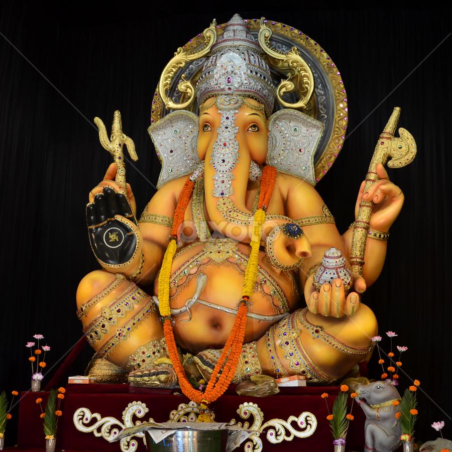 Lord Ganesha by Priyank Jha - Artistic Objects Other Objects ( nikon d5100, god, mythology, india, festival, ganesha )