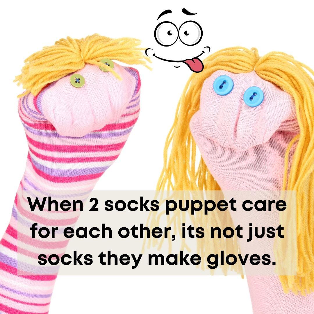 Puppet sock pun