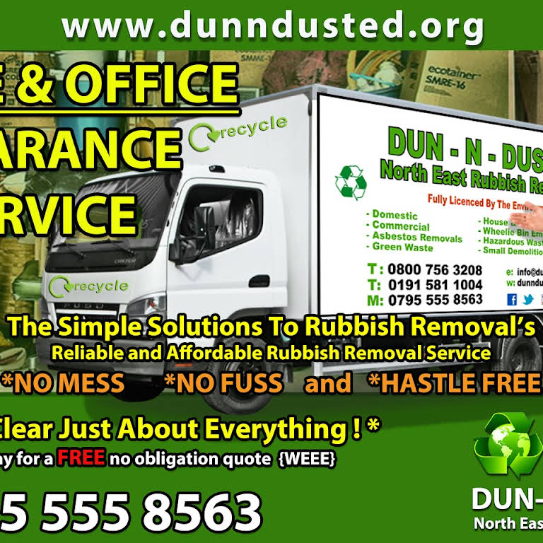 Dun N Dusted Rubbish Removals N/E - House Clearance Service
