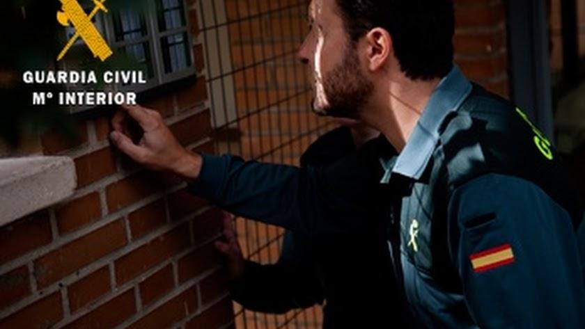 Imagen de la actuación de la Guardia Civil.