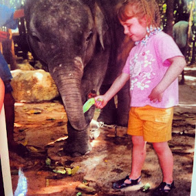 Just feeding my little fwiend 🐘 #throwback by Abi Gilson - Instagram & Mobile Instagram