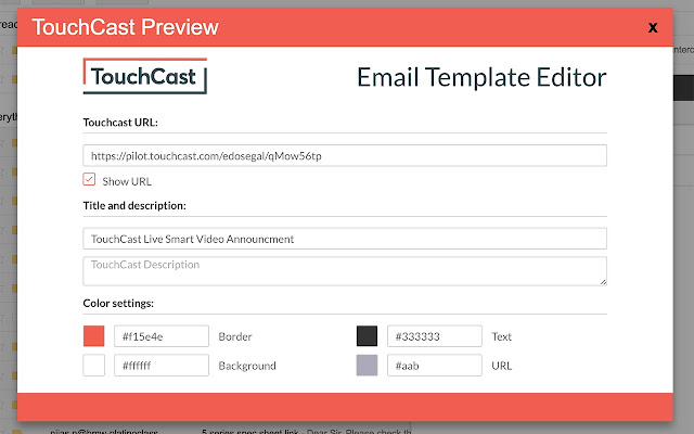 TouchCast Tool for Gmail
