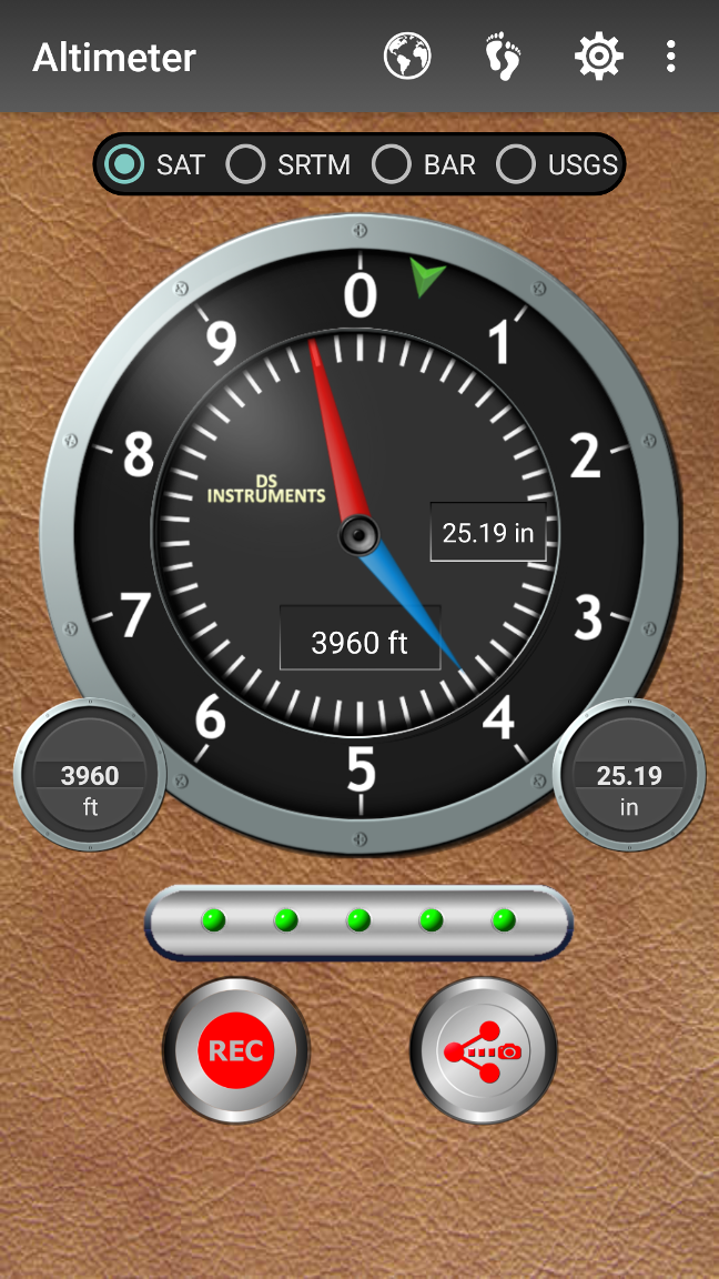 DS Altimeter Screenshot