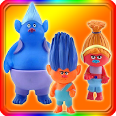 Troll doll and friends puzzle