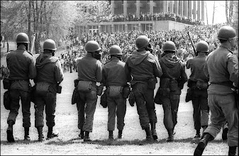 Photo: The guard prepares its assault on the students.
