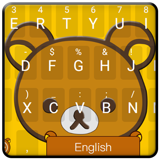 Happy Yellow Bear Keyboard Theme
