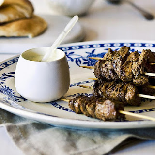 Lamb Kebabs with Mint Yogurt Sauce.