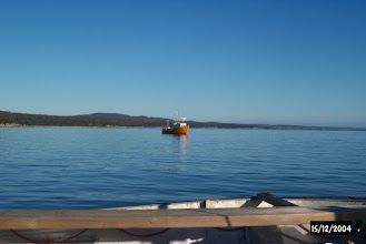 Photo: Fishing boat in Binalong Bay