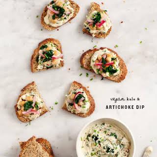 Vegan Kale & Artichoke Dip.