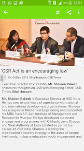 CSR Times - India Vision- screenshot thumbnail