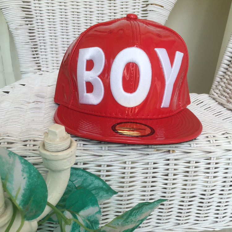 B Red Snapback by Le Tea Boutique