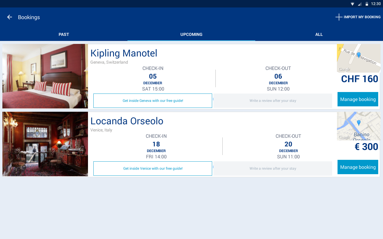 Booking Hotels, Vacation Deals (ekrano kopija)