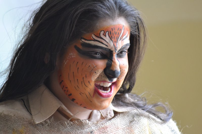 """Photo: Kids for Tigers Face Painting: """"I am the tiger."""""""