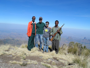 Photo: Guide, guy, gal, scout -- at Imetgogo Simien Mountains National Park (the one time I used my mini-tripod)